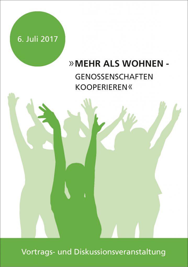 """Einladung zur Vortags- und Diskussionsveranstaltung """"Mehr als Wohnen - Genossenschaften kooperieren"""""""